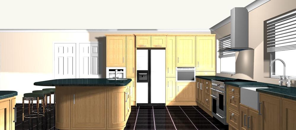 Artistic impressions nottingham interiors for Bespoke kitchen design nottingham